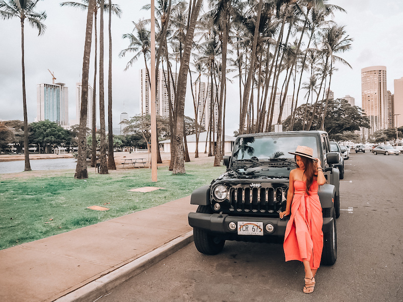 【ハワイでレンタカー】おしゃれなジープをハーツレンタカーで借りたよ。